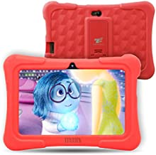 Dragon Touch Y88X Plus - Tablet Infantil de 7 Pulgadas ( SO Android Lollipop , 178° Vista Pantalla , 8G , Funda Alta Protección para Niños con Soporte ) Incluye Kidoz Versión Desbloqueada Pre-instalado , Rojo [ 2017 Modelo Nuevo ]