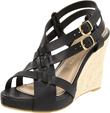 Chinese Laundry Women's Double Click Wedge Sandal,Black,10 M US
