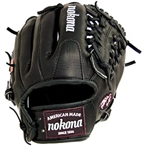 Nokona Bloodline Pro Elite Black Baseball Glove Modified Trap 11.5 Inch (Right Handed Throw)