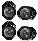 "4) Kenwood KFC-P680C 6x8"" 400 Watt 2-Way Car Audio Component Speakers KFCP680C"