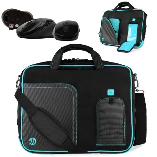 Uniquely Designed Vangoddy Aqua Blue Ultra Durable Reinforced 17 Inch Pindar Sports Bag For All Models Of The Gateway Nv Series 17 Ultrabook!!! + Device Compatible Wireless Mouse.