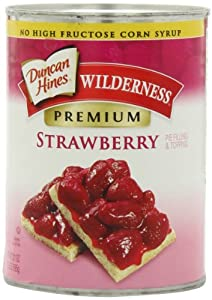 Wilderness Premium Pie Filling & Topping, Strawberry, 21 Ounce (Pack of 4)