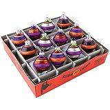 RADKO Shiny Brite Halloween Mini Glass Beehive Ornaments NEW IN BOX