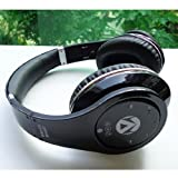 Universal Dual Wireless & Wired Bluetooth Stereo Foldable Headset with Microphone for Mobile Phones, Tablet, Laptop, PC, MP3 Player, CD Player - Comes with FREE drawstring carry bag! (BLACK)