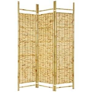 Oriental Furniture 6 ft. Tall Burnt Bamboo Shoji Screen