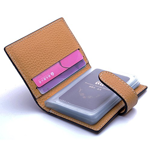 11. Teemzone Women's Candy Color Genuine Leather Evening Party Clutch Organizer Wallet