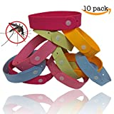 Mosquito Repellent Bracelet (10-Pack) by TantiQ ® - Safe, Natural Pest Control - DEET Free Indoor or Outdoor Insect Control - Kid Safe Insect Repellant - Waterproof, Adjustable Design