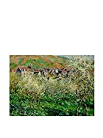 Especial Arte Lienzo Flowering Plum Trees Multicolor