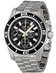 Discounted Breitling Men's A1334102/BA82SS Black Dial Superocean Chronograph II Watch Deals
