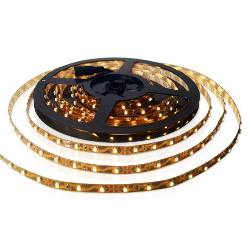 SET: LED STRIP Leiste Band Warmweiss - INKL.  NETZTEIL / 300 LEDs / 5 METER - MFYLED-5WW