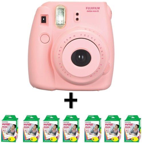 Fujifilm Instax Mini 8 - Pink + 70 Instax Mini Film Black Friday & Cyber Monday 2014