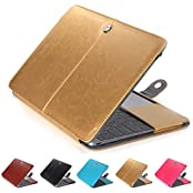 "GranVela MacBook Notebook Premium Quality PU Leather Sleeve Bag, Skin Case Cover For Apple 12"" Inch Macbook Retina-Brown"