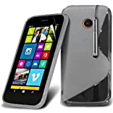 (White) Nokia Lumia 630, 635 Elegant S line Hydro Wave Gel Skin Case Cover, Retractable Touch Screen Pen & Screen...