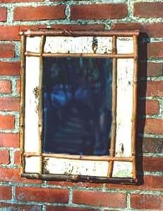 Rustic Birch Framed Mirror