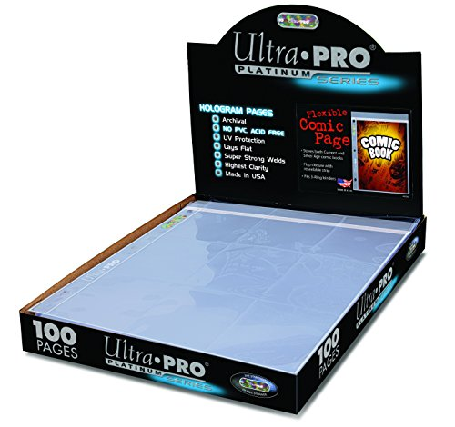 Ultra-PRO-7-14-x-10-12-Comic-Page-with-3-Hole-Spine-100-Count-Box-Small-Clear