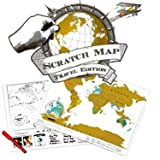 World Map Educational Scratch Off Map Poster
