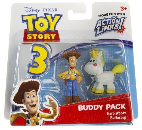 Hero Woody & Buttercup: Toy Story 3 Action Links Mini-Figure Buddy Pack (Toy Story Buttercup)