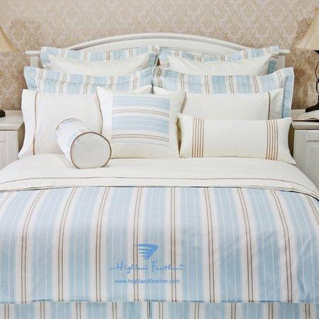 """Queen Size Aqua Color 100% Cotton Duvet Cover-""""Empire Stripe """" Collection front-1041829"""
