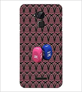 PrintDhaba Love Dice D-4573 Back Case Cover for COOLPAD NOTE 3 LITE (Multi-Coloured)