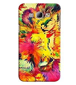 Blue Throat Multicolor Prism Printed Designer Back Cover For Samsung Galaxy A8