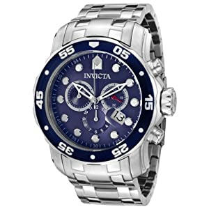 "Invicta Men's 0070 ""Pro Diver Collection"" Stainless Steel and Blue Dial Watch by Invicta"