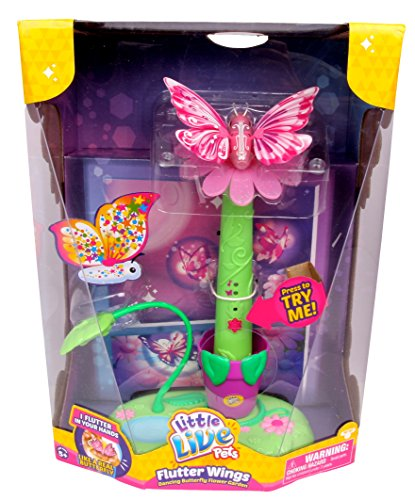 Little Live Pets Flutter Wings Dancing Butterfly Flower Garden