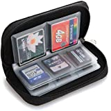 Bluelans® 22 Slots Case Pouch Holder for Memory Card SD SDHC MMC CF Micro SD