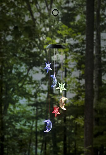 Flyst Solar Power light Wind Chimes Color-Changing Stars and Moons Solar Mobile (Wind Mobile compare prices)