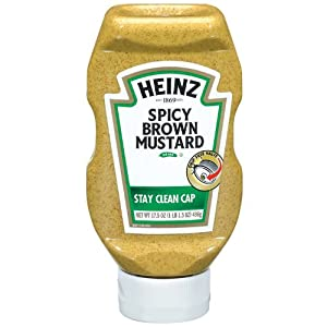 Heinz Spicy Brown Mustard, 17.5 Ounce Bottles (Pack of 12)