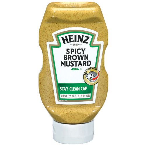 Heinz Spicy Brown Mustard, 17.5 Ounce Bottles (Pack Of 12) front-674170