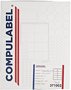 Compulabel weather resistant polyster for Avery template 5523