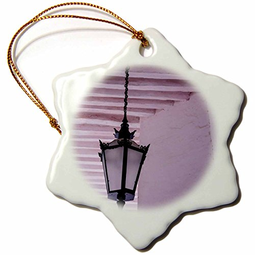 Danita Delimont - Alida Latham - Lights - Africa, Mozambique, Mozambique Island. Elegant light fixture. - 3 inch Snowflake Porcelain Ornament (orn_187153_1)