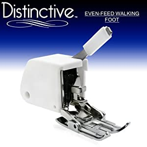 Distinctive Even Feed Walking Sewing Machine Presser Foot - Fits All Low Shank (Top-Loading Drop-In Bobbin Machines Only) Singer, Brother, Babylock, Euro-Pro, Janome, White, Juki, New Home, Simplicity, Necchi, Elna and More!