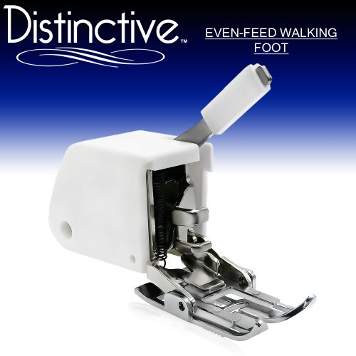 Distinctive Even Feed Walking Sewing Machine Presser Foot - Fits All Low Shank Singer, Brother, Babylock, Viking (Husky Series), Euro-Pro, Janome (Top-Loading Drop-In Bobbin Machines Only), White, Juki, New Home, Simplicity, Necchi, Elna and More!