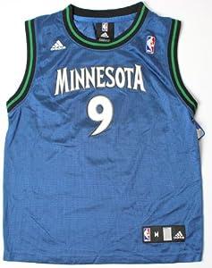 NBA Adidas Minnesota Timberwolves Ricky Rubio Youth Large Blue Replica Jersey (Size... by adidas