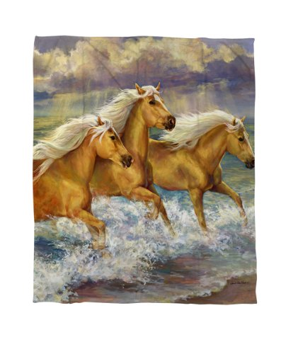 Twin Horse Comforter front-580977