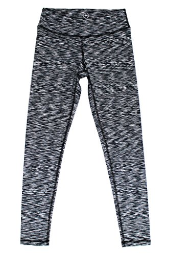 90 Degree By Reflex - Kids Yoga Pants Leggings - Black Space Dye M (10)