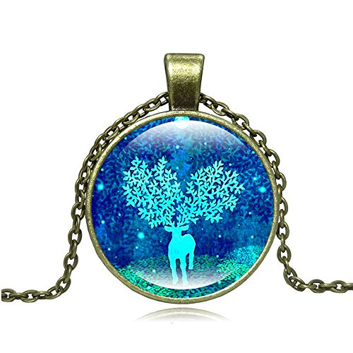 Pop Wild Women Fashion Creative New Christmas Gift Elk Time Gem Necklaces (Compartment Shift Knob compare prices)