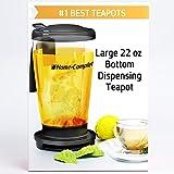 Perfect Loose Tea Maker -22 Oz Smart Bottom Dispensing Tea Infuser Teapot - We Insure LIFETIME GUARANTEE Unlike Teavana Ingenuitea Or Adagio -Built In Filter Strainer for Loose Leaf Tea Cup