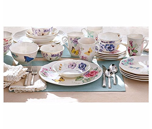 Lenox Classic Butterfly Meadow Dinnerware Set 28 Piece Service For 4 Porcelain