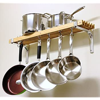 Cooks Standard Wall Mount Pot Rack, 36 by 8-Inch