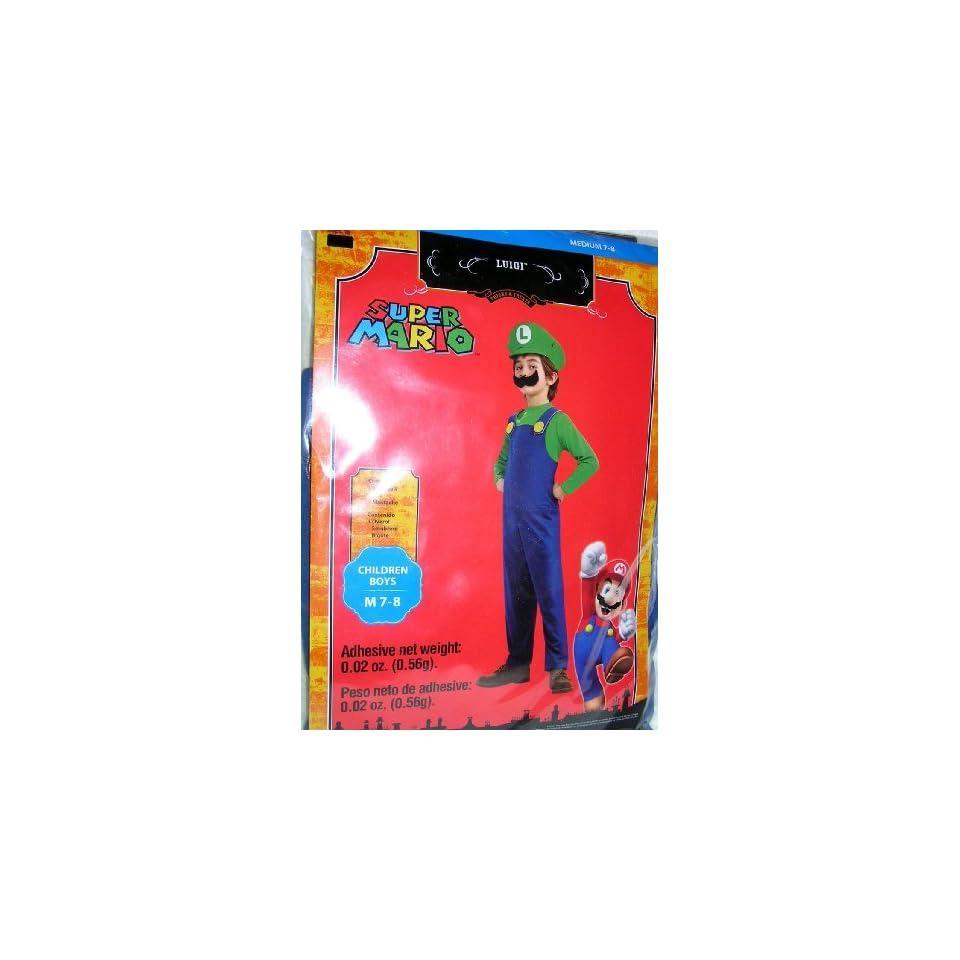 Super Mario Luigi Childs Costume Size Medium 7 8