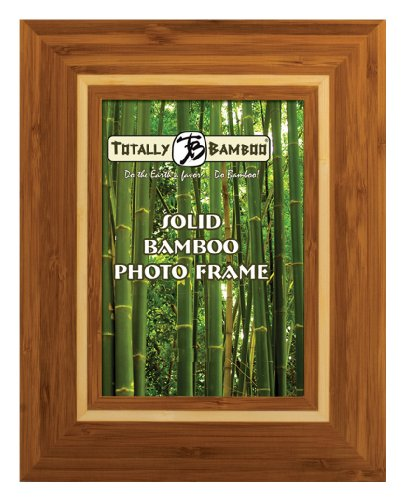 Totally Bamboo Montego Bay 5-by-7-Inch Solid Bamboo Photo Frame
