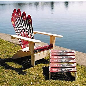 adirondack chair plans with skis