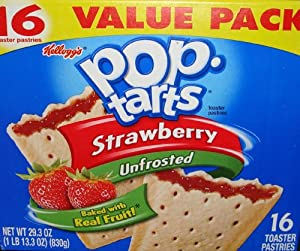 Pop-Tarts Strawberry Unfrosted Toaster Pastries