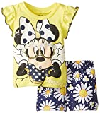 Disney Baby Girls' Minnie Mouse Short Set  Yellow and Floral
