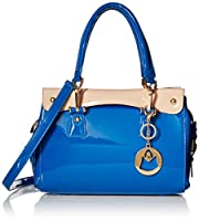 MG Collection Vera Trendy PU Patent Leather Office Purse Style Shoulder Bag from MG Collection