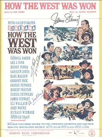 HOW THE WEST WAS WON MOVIE CAST - SHEET MUSIC SIGNED CO ...