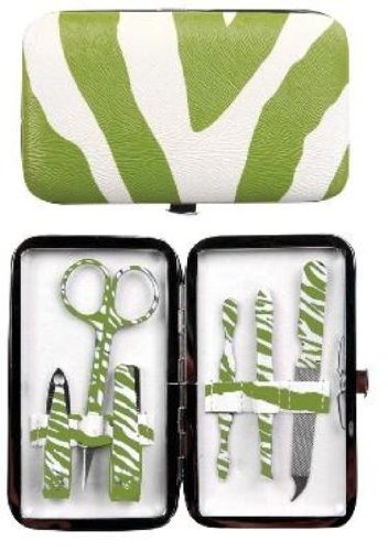 Manual Green Exotic Purse Sized Manicure Set front-911936