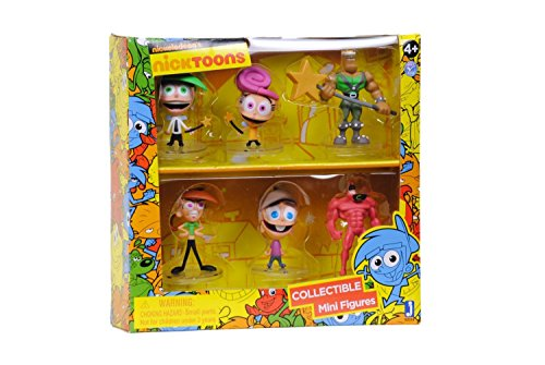 "Nicktoons Fairly Odd Parents Deluxe Collector Toys (6-Pack), 2"" - 1"